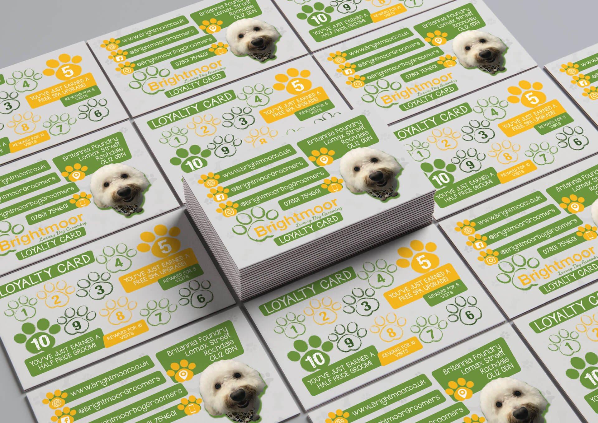Brightmoor Luxury Dog Grooming Loyalty Card Design
