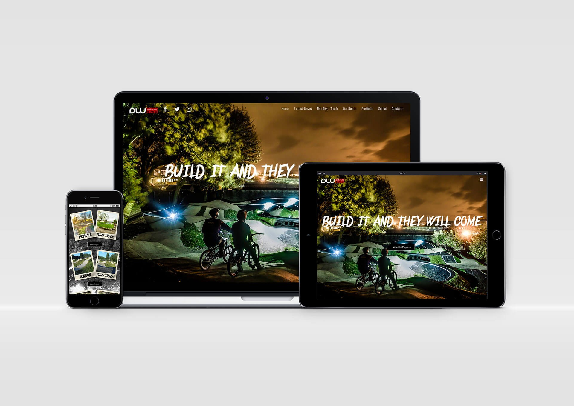 Dirtworks BMX Website Design