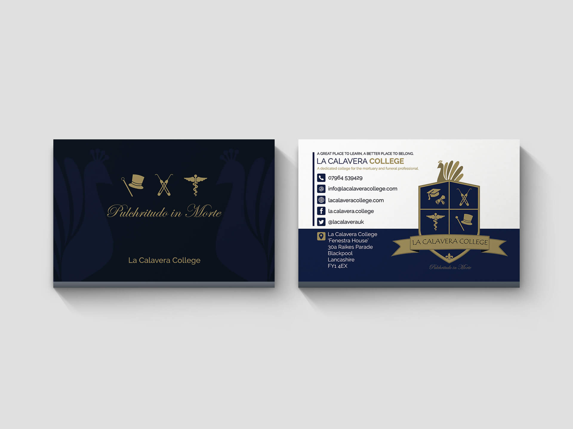 La Calavera College Business Cards