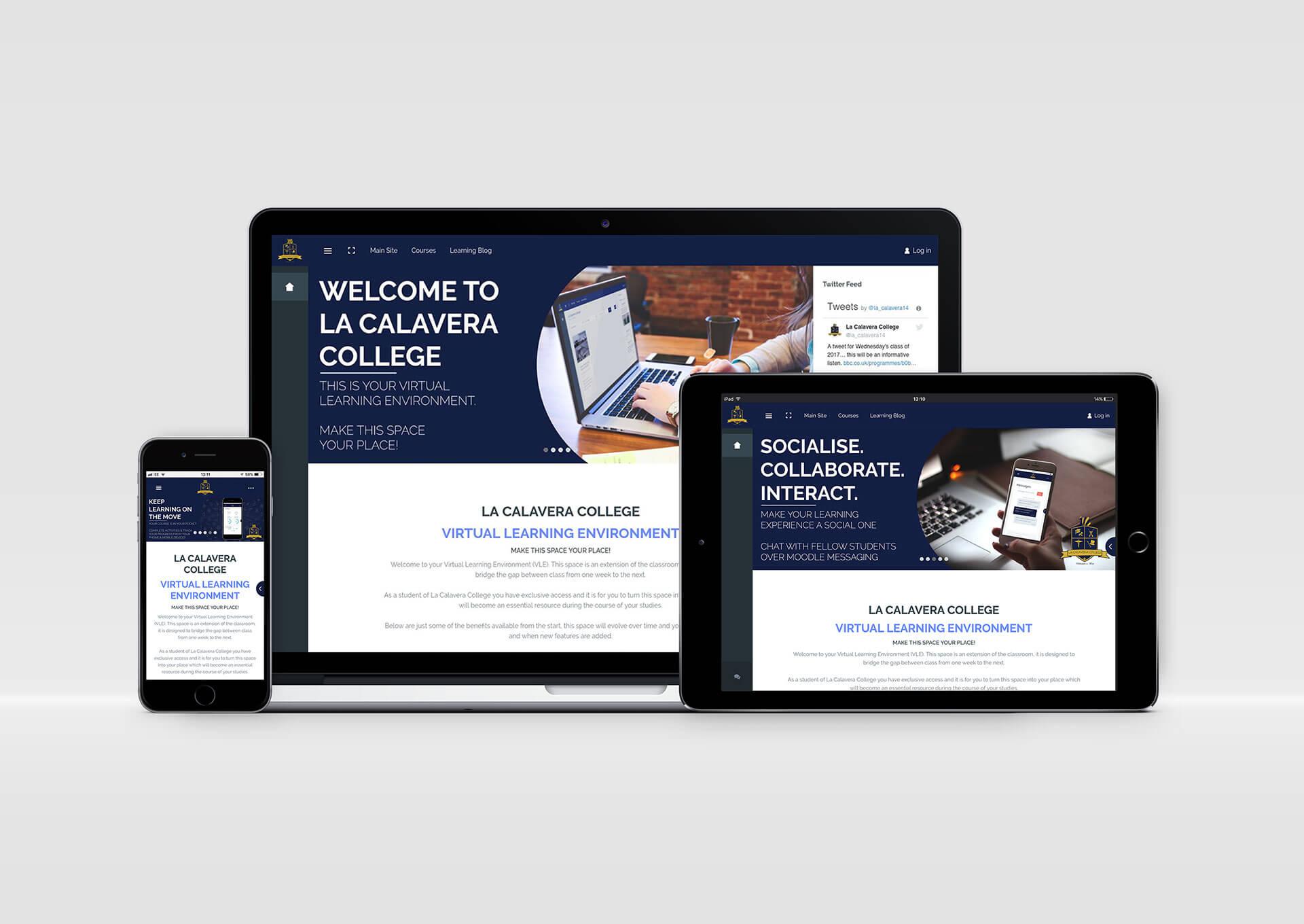 La Calavera College LMS Website