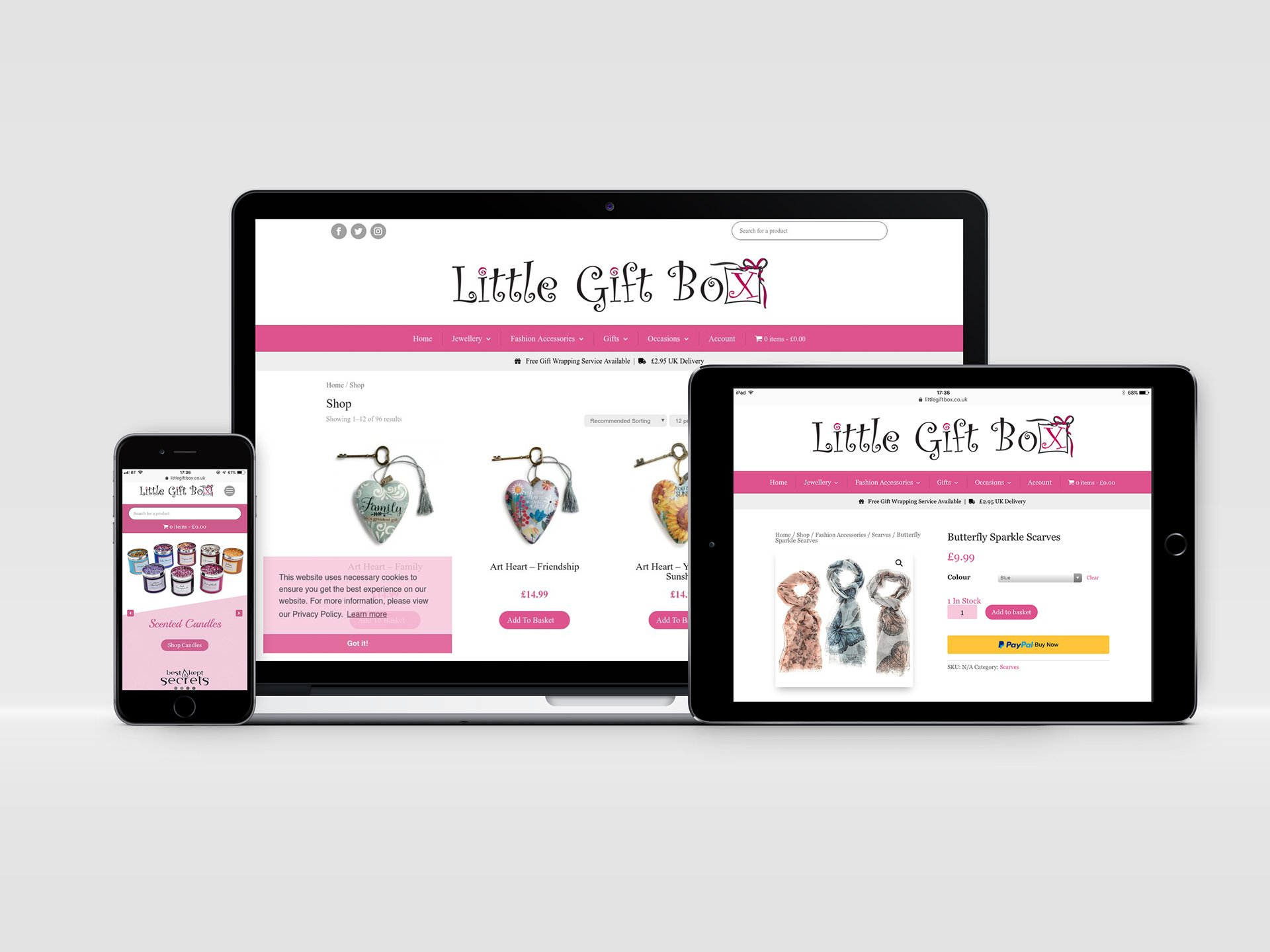 Little Gift Box Website Design