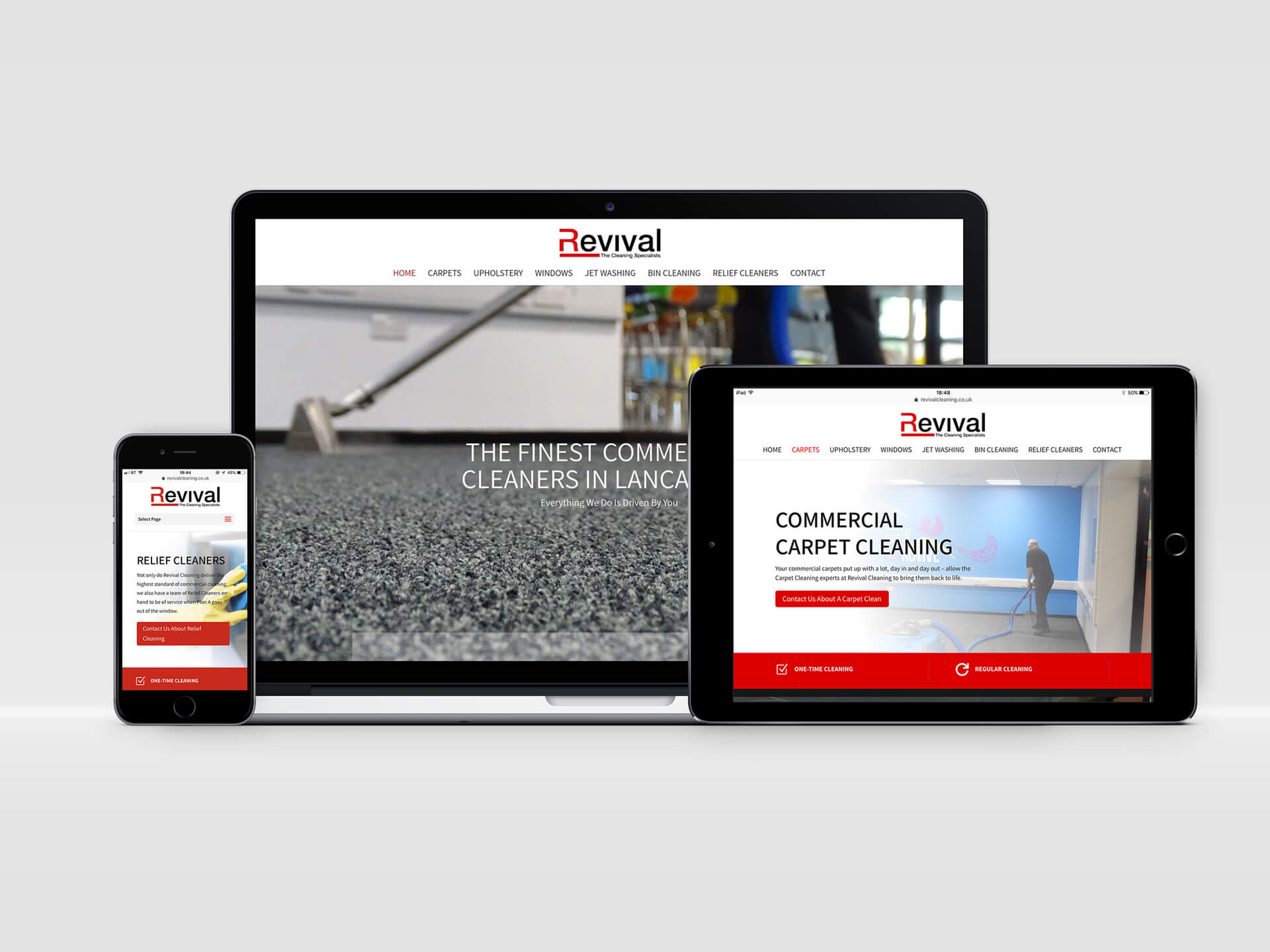 Revival Cleaning Website Design