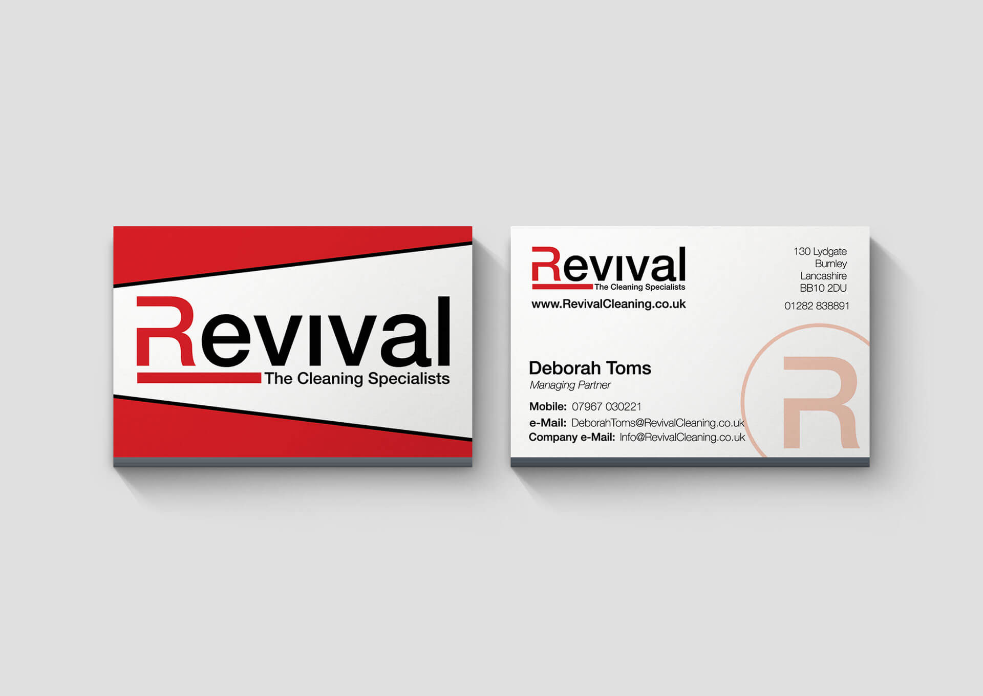 Revival Cleaning Business Card Design