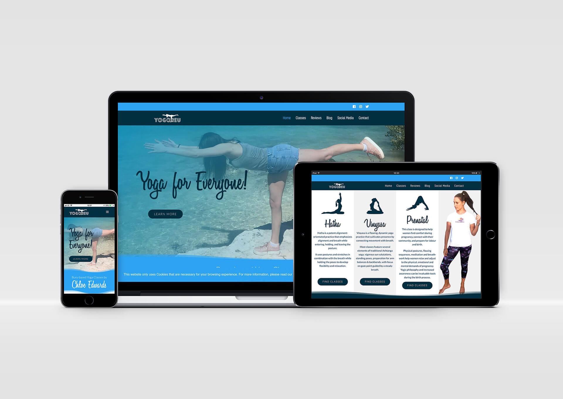Yogoreu Web Site Design