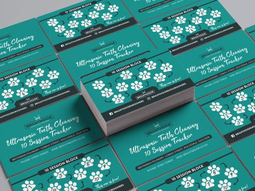 Brightmoor Luxury Dog Grooming | Loyalty Card Set