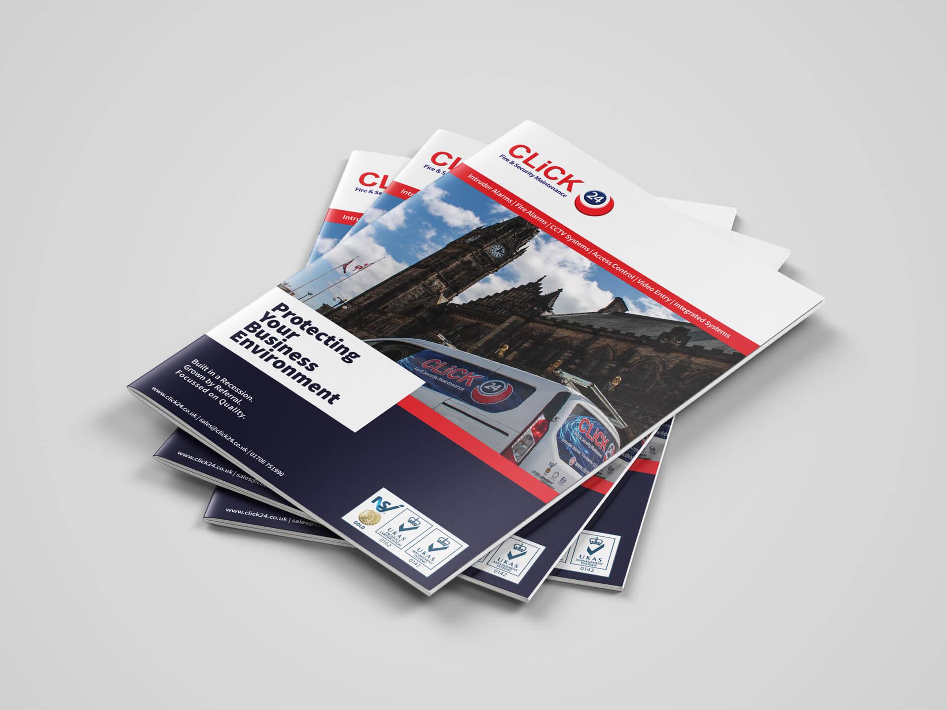 Click 24 A4 Brochure Print Design