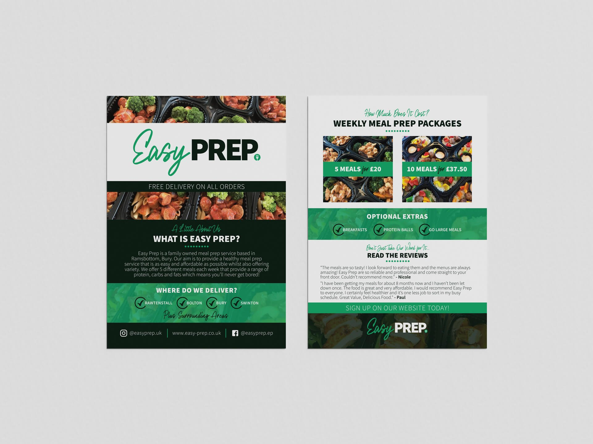 Easy Prep A5 Leaflet Design