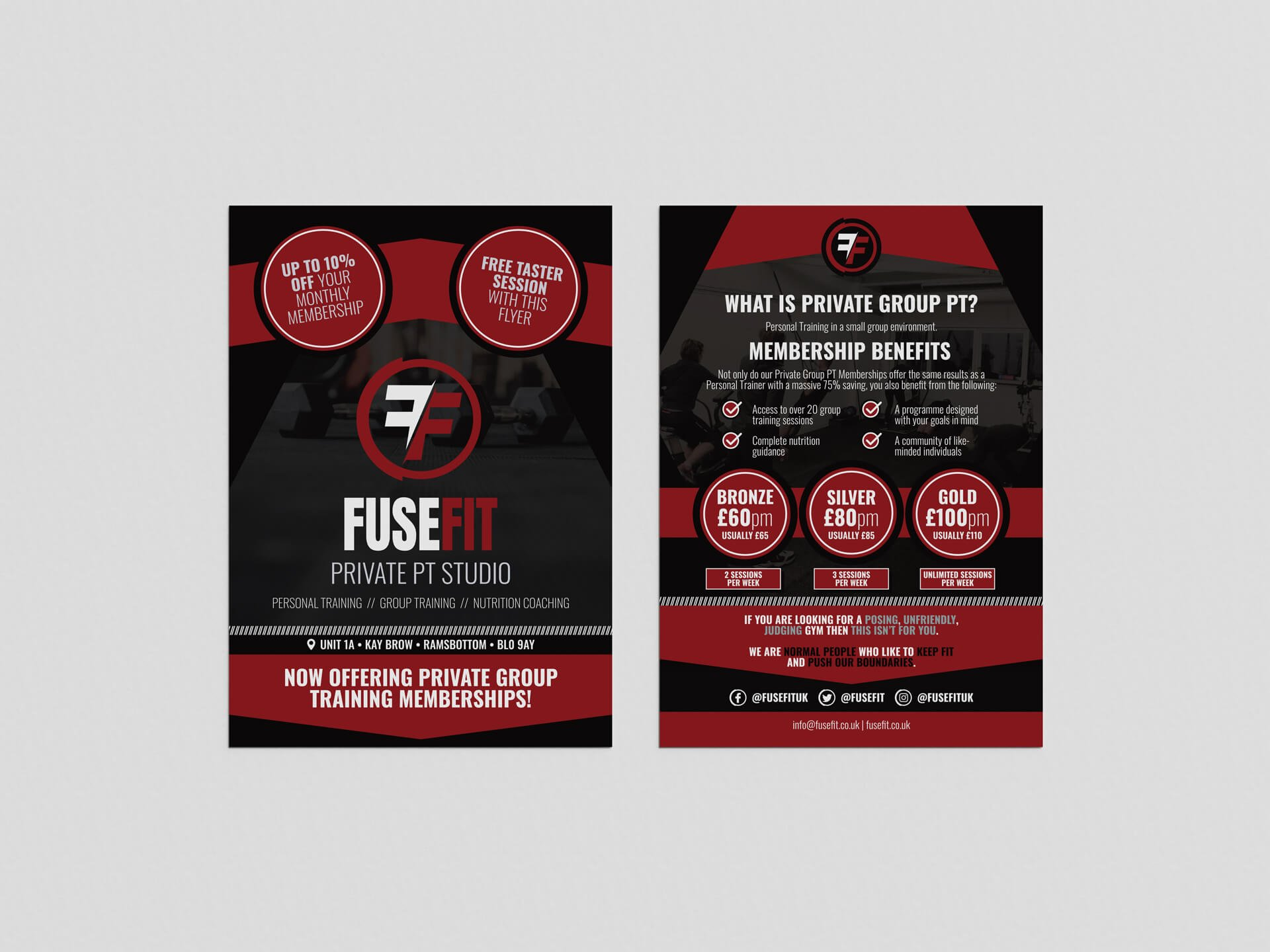 FuseFit A5 Leaflet