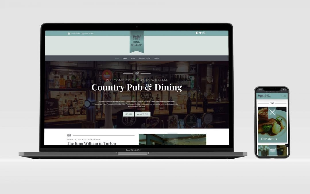 King William Pub | Brochure Website