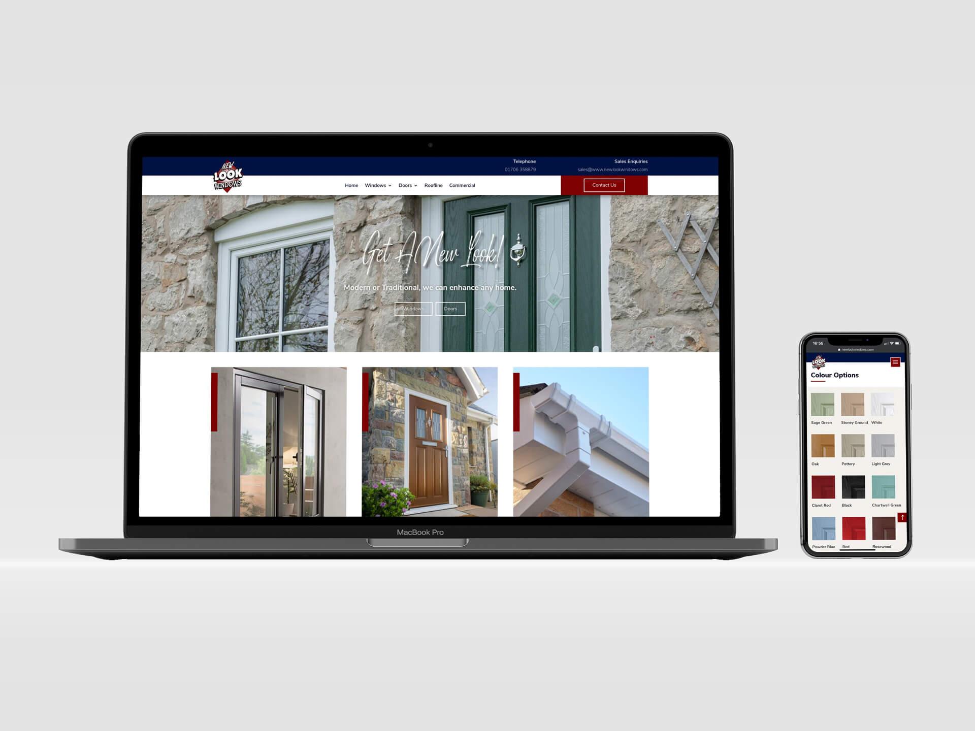 New Look Windows Web Design